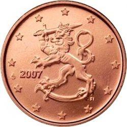 1 евроцент Финляндии (тип 2)