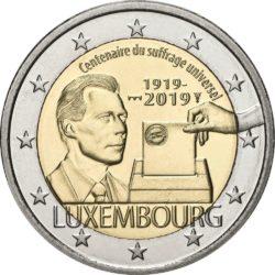 2 евро, Люксембург (100-летие всеобщего избирательного права в Люксембурге)