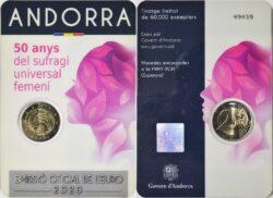 Andorra 2020 2 euro Sufragi