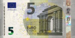 Euro banknote 5 euro 2013 obv