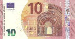 Euro banknote 10 euro 2014 obv