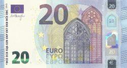 Euro banknote 20 euro 2015 obv
