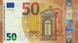 Euro banknote 50 euro 2017 rev