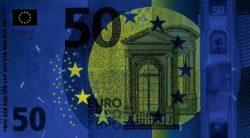 Euro banknote 50 euro 2017 obv uv