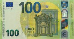 Euro banknote 100 euro 2019 obv