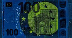 Euro banknote 100 euro 2019 obv uv