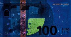 Euro banknote 100 euro 2019 rev uv