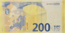 Euro banknote 200 euro 2019 rev