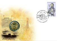 2 euro Slovakia 2015. Numismatic Cover