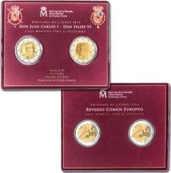Spain 2014 2 euro+ 2 euro coincard