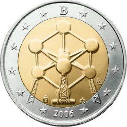 2 евро, Бельгия (Атомиум)