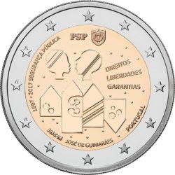 2 евро, Португалия (150 лет Полиции общественной безопасности)