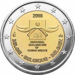 2 евро, Бельгия (60 лет Декларации прав человека)