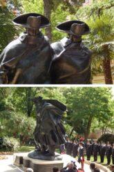 22 мая 2014 года. Торжественное открытие памятника, копирующий известную скульптуру флорентийского мастера Антонио Берти (Antonio Berti) 1973 года.