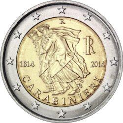 2 евро, Италия (200 лет итальянским карабинерам)