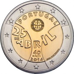 2 евро, Португалия (40-летие Революции гвоздик)
