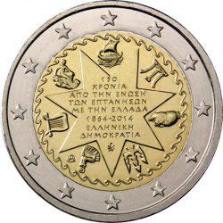 2 евро, Греция (150-летие союза Ионических островов с Грецией)