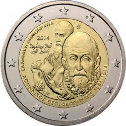 2 евро, Греция (400 лет со дня смерти Доменикоса Теотокопулоса (Эль Греко))
