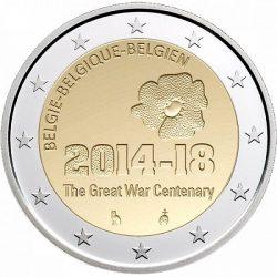 2 евро, Бельгия (100 лет с начала Первой мировой войны)