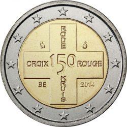 2 евро, Бельгия (150 лет Красному Кресту Бельгии)