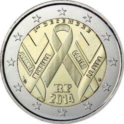 2 евро, Франция (Всемирный день борьбы со СПИДом)
