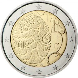 2 евро, Финляндия (150-летие введения в Финляндии собственной валюты)