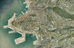 Современная гавань Триеста из космоса
