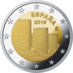 2 евро, Испания (Старый город Авила)