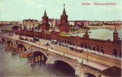 Мост Обербаумбрюкке со станцией метрополитена «Штралауэр-Тор» (открытка ок. 1900 г.)