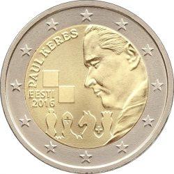 2 евро, Эстония (100 лет со дня рождения Пауля Кереса)