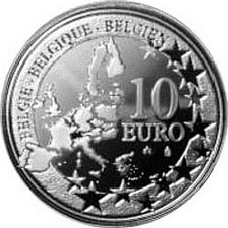 10 евро, Бельгия (Чемпионат мира по футболу 2006 и 75 лет стадиону Хайзель), аверс
