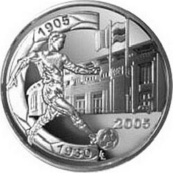 10 евро, Бельгия (Чемпионат мира по футболу 2006 и 75 лет стадиону Хайзель), реверс