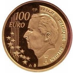 100 евро, Бельгия (175 лет независимости Бельгии), аверс