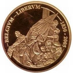 100 евро, Бельгия (175 лет независимости Бельгии), реверс