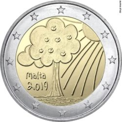 2 евро, Мальта (Природа и окружающая среда)