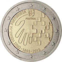 2 евро, Португалия (150 лет Красному Кресту Португалии)