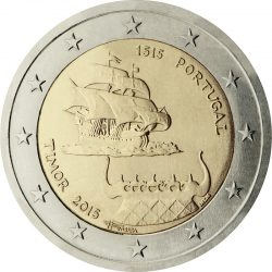 2 евро, Португалия (500-летие первого контакта с Тимором)