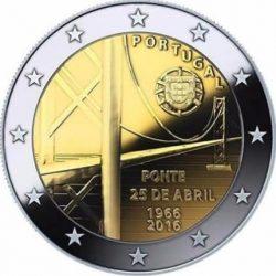 2 евро, Португалия (50-летие моста имени 25 апреля)
