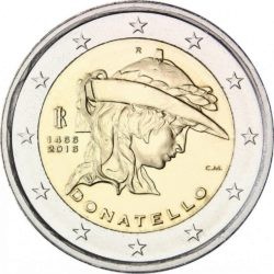 2 евро, Италия (550 лет со дня смерти Донателло)