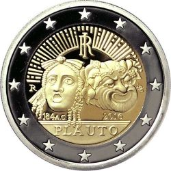 2 евро, Италия (2200 лет со дня смерти Тита Макция Плавта)
