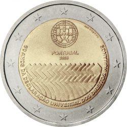 2 евро, Португалия (60-летие принятия Всеобщей декларации прав человека)