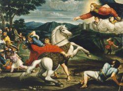 Обращение Савла по дороге в Дамаск. (работа неизвестного художника, XVI в.)