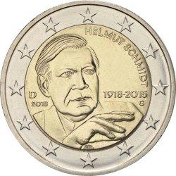 2 евро, Германия (100 лет со дня рождения Гельмута Шмидта)