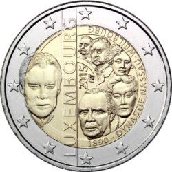 2 евро, Люксембург (125-летие династии Нассау-Вайльбург)