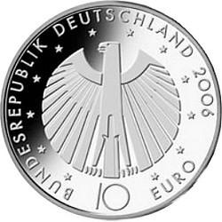 10 евро, Германия (4-я монета серии «Чемпионат мира по футболу 2006»)