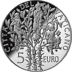5 евро, Ватикан (60 лет окончания Второй мировой войны)