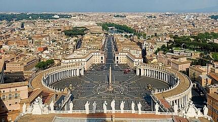 Вид площади перед собором св. Петра