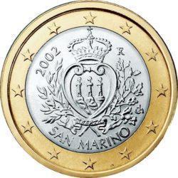 1 евро, Сан-Марино