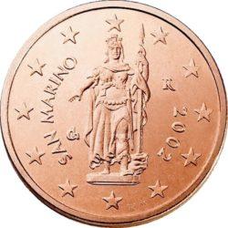 2 евроцента, Сан-Марино (тип 1)