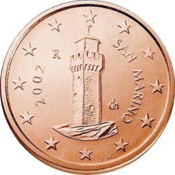 1 евроцент, Сан-Марино (тип 1)